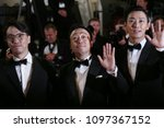 Small photo of Jong-bin Yoon, Sung-min Lee, Ji-Hoon Ju attend the screening of'The Spy Gone North `` (Gongjak)' during the 71st Cannes Film Festival at Palais des Festivals on May 11, 2018 in Cannes, France.