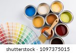 paint cans color palette | Shutterstock . vector #1097375015