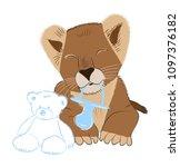 hand drawn vector illustration... | Shutterstock .eps vector #1097376182