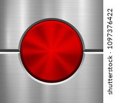 red metal circle button ... | Shutterstock .eps vector #1097376422