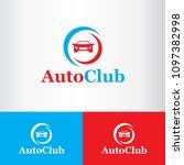 auto club logo design  concept... | Shutterstock .eps vector #1097382998