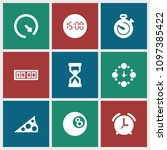 minute icon. collection of 9... | Shutterstock .eps vector #1097385422