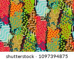 vector seamless pattern with... | Shutterstock .eps vector #1097394875
