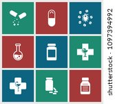 pharmaceutical icon. collection ...   Shutterstock .eps vector #1097394992