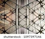 transparent ceiling   wall with ...   Shutterstock . vector #1097397146