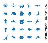 wildlife icon. collection of 25 ... | Shutterstock .eps vector #1097398652
