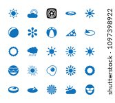 sunny icon. collection of 25... | Shutterstock .eps vector #1097398922