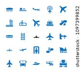 passenger icon. collection of... | Shutterstock .eps vector #1097399852