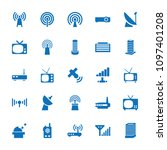 antenna icon. collection of 25... | Shutterstock .eps vector #1097401208