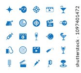 shot icon. collection of 25... | Shutterstock .eps vector #1097401472