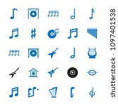melody icon. collection of 25... | Shutterstock .eps vector #1097401538