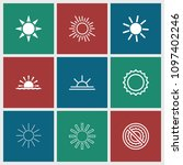 sunshine icon. collection of 9...   Shutterstock .eps vector #1097402246