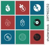 cd icon. collection of 9 cd... | Shutterstock .eps vector #1097402252