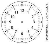 clock face for house  alarm ...   Shutterstock .eps vector #1097402276