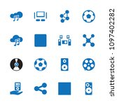 multimedia icon. collection of... | Shutterstock .eps vector #1097402282