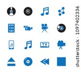 multimedia icon. collection of... | Shutterstock .eps vector #1097402336