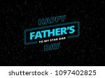 happy father's day vector... | Shutterstock .eps vector #1097402825