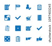 choice icon. collection of 16... | Shutterstock .eps vector #1097403245