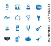acoustic icon. collection of 16 ...   Shutterstock .eps vector #1097403365