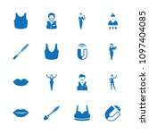 attractive icon. collection of...   Shutterstock .eps vector #1097404085