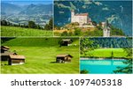 collage of tourist photos of... | Shutterstock . vector #1097405318