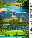 collage of tourist photos of... | Shutterstock . vector #1097405342