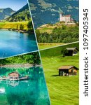 collage of tourist photos of... | Shutterstock . vector #1097405345