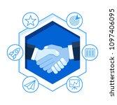handshake of business partners. ... | Shutterstock .eps vector #1097406095