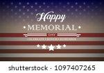 memorial day background vector...   Shutterstock .eps vector #1097407265
