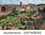 rome  ruins of the imperial... | Shutterstock . vector #1097408282