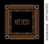 art deco frames and borders | Shutterstock .eps vector #1097410352