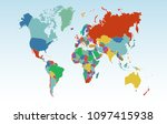 color world map  | Shutterstock .eps vector #1097415938