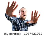 scared young man   Shutterstock . vector #1097421032