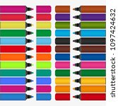 markers of different colors | Shutterstock .eps vector #1097424632
