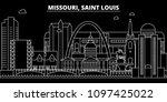 saint louis silhouette skyline. ... | Shutterstock .eps vector #1097425022