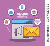 online advertising design   Shutterstock .eps vector #1097427332