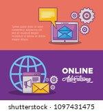 online marketing design   Shutterstock .eps vector #1097431475