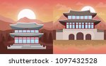 asia culture design | Shutterstock .eps vector #1097432528