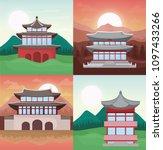 asia temples design | Shutterstock .eps vector #1097433266