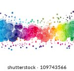 abstract on a colorful... | Shutterstock . vector #109743566