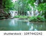 thanawan waterfall beautiful... | Shutterstock . vector #1097442242
