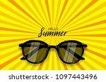 hello summer time. vector pop... | Shutterstock .eps vector #1097443496