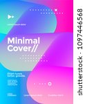 minimal cover design with... | Shutterstock .eps vector #1097446568