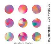 round gradient set of vibrant... | Shutterstock .eps vector #1097448302