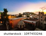athens greece sunset view of... | Shutterstock . vector #1097453246
