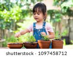 adorable 3 years old asian... | Shutterstock . vector #1097458712