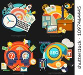 consulting  management  seo and ... | Shutterstock .eps vector #1097464445