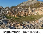 ruins of the ancient city of... | Shutterstock . vector #1097464838