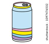 color cold soda can fresh...   Shutterstock .eps vector #1097476532