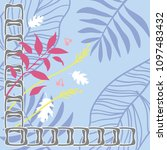 scarf design with tropical... | Shutterstock .eps vector #1097483432